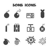 Iconos de la bomba — Vector de stock