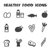 Gesunde ernährung-symbole — Stockvektor