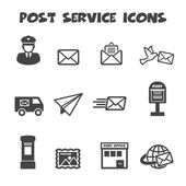 Post service icons — Stock Vector
