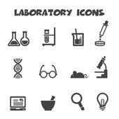 Laboratoriet ikoner — Stockvektor