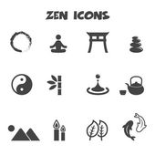 Zen icons — Vector de stock