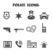 Police icons — Stock Vector