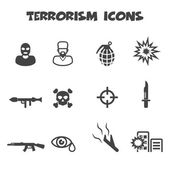 Terrorism icons — Vector de stock