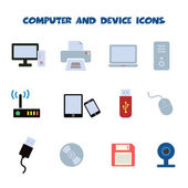 Computer and device icons — Stock Vector