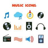 Hudební ikony — Stock vektor