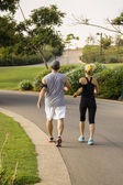 Jogging at park — Stock Photo