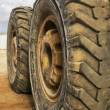 Stock Photo: Tractor wheels