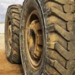 Tractor wheels — Stock Photo