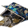 Stock Photo: Purse full coins