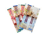 Israeli banknotes — Stock Photo