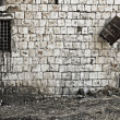 Stone wall window — Stock Photo