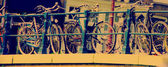 Bikes - retro picture. — Foto de Stock