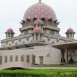 Stock Photo: PutrMosque is principal mosque of Putrajaya, Malaysia. Bui