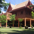 The house in Thai style used from wood — Stock Photo