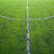 Center of football or soccer field - Stock Photo