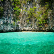 Beautiful blue sea from South Krabi Thailand, Asia - Stock Photo