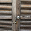 Royalty-Free Stock Photo: Wood door locked