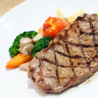 Stock Photo: Meat grilled beef fillet with tomato