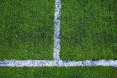 Green natural grass of a Football soccer field — Stock Photo