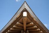 Detalhe do telhado muito complexo templo japonês — Foto Stock