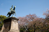 Statue of warrior on horse in Ueno, Tokyo — Stock Photo