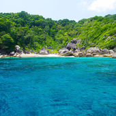 Beautiful blue sea from South Thailand, Asia — Stock Photo