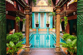 Entrance to art hotel Thailand — Stock Photo