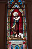 Malované sklenice svatých v římsko-katolické církve v chanthaburi, thajsko — Stock fotografie
