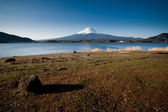 Mt Fuji view from the lake — Stock Photo