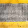 Yellow road marking lines pictured from above — Stock Photo