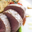 Close up Beef medallions - Foto Stock