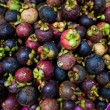 Mangosteen fruits at Thailand morning market - Stock Photo