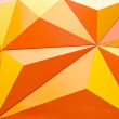 Abstract geometrical background with orange triangles — Stok fotoğraf