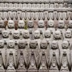 Jizo stone statues, Kamakura, Japan — Stock Photo