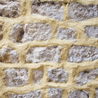 Brick texture with white average bricks — Stock Photo
