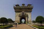 Patuxai monument in Vientiane capital of Laos — Stock Photo