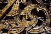 Textury umění řemesla thajském stylu na zdi chrámu — Stock fotografie