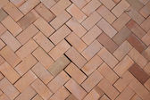 Red brick herringbone background texture — Stock Photo