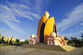 Art Building Vietnam on blue sky — Foto de Stock
