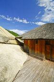 Arquitectura de campo antigua casa tradicional en vietnam — Foto de Stock