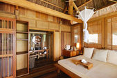 Interior of a wooden house — Stock Photo