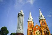 Saigon notre-dame basilica ho chi minh city, vietnam — Stok fotoğraf