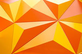 Abstract geometrical background with orange triangles — Stock Photo