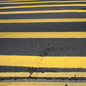 Road Marking - Many Yellow Lines — Stock Photo