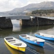 Boats on the lake and the bridge - Lizenzfreies Foto