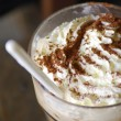 Closeup of an inviting chocolate drink or dessert — Stock Photo