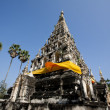 Square shaped pagoda of Wat Chedi Liam in Chiang Mai, Thailand - Stock Photo