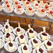 Stock Photo: Sweet berry desserts waiting for restaurants guests