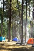 Camping tält vid floden — Stockfoto