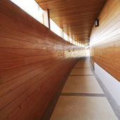 Passarela de madeira centro — Foto Stock